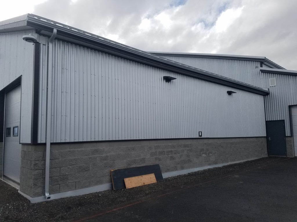 Metal siding on structure