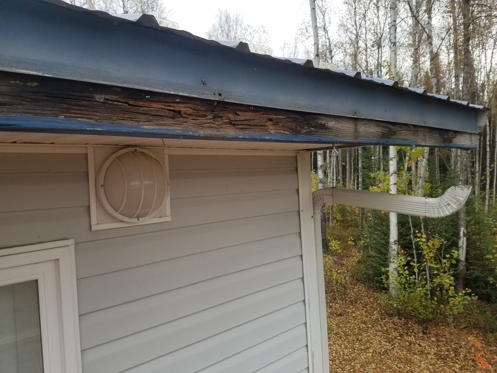Rotted wood on roof