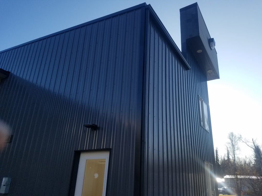 Metal sided building